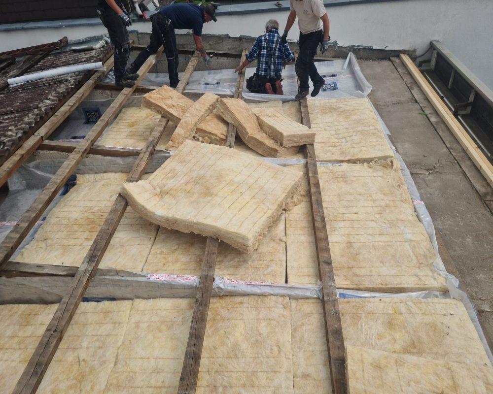 energetische Sanierung Flachdach