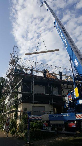 Jetzt ist der marode Dachstuhl komplett entfernt.